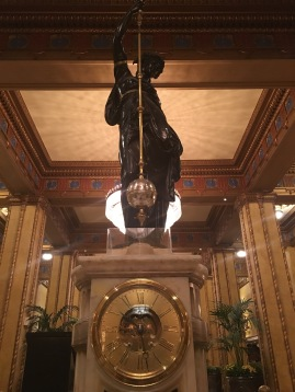 The Paris Exhibition Clock at the Roosevelt.