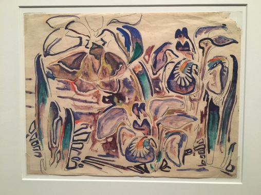 Walter Anderson. (1903-1965). Irises. Circa 1955. Watercolor on typing paper. Collection of Wesley and Norman Galen.