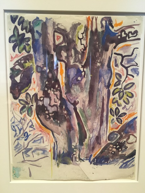 Walter Anderson. (1903-1965). Tree. Circa 1955. Watercolor on typing paper. Collection of Wesley and Norman Galen.