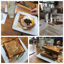 Cochon for lemonade, an oyster sandwich and pork tenderloin wrapped in pork belly. Heaven.